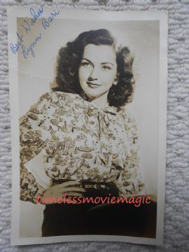 Lynn Bari Hollywood Actress – Original Autograph